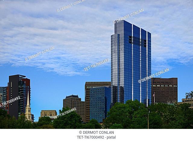 Massachusetts, Boston, Urban scene with Boston Millennium Tower