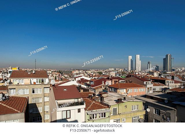 Istanbul cityscape new developing part
