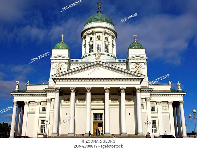 Dom von Helsinki, Finnland / Helsinki Lutheran Cathedral, Helsinki, Finland