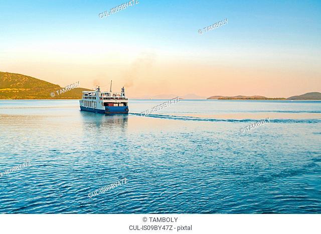 Ferry leaving harbour, Igoumenítsa, Thesprotia, Greece