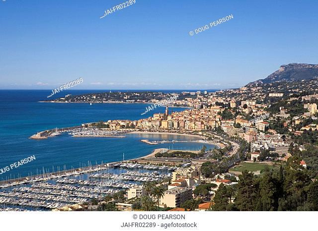 Menton, French Riviera, Cote d'Azur, France