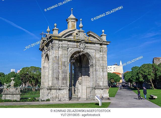 18th Lord of Matosinhos (Bom Jesus de Matosinhos) monument in Matosinhos city, bordered with Porto, part of Grande Porto subregion in Portugal