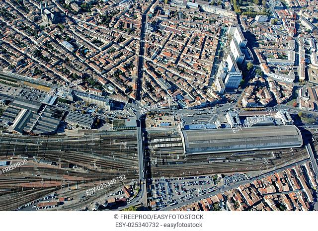 Aerial view of the city of Bordeaux, France
