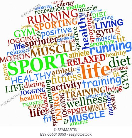 Sports tag cloud for web and another design