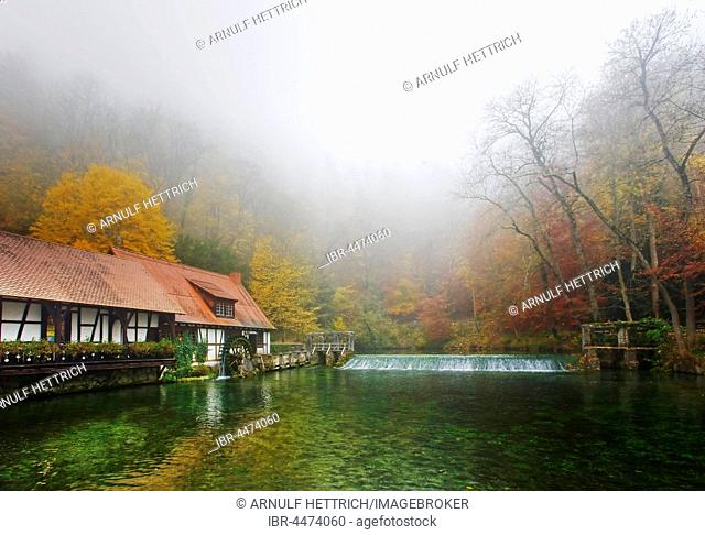 Blautopf, Blaubeuren, Swabian Jura, Baden-Württemberg, Germany