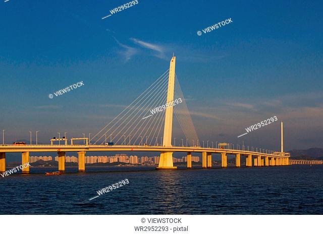 Shenzhen Bay Bridge in Guangdong Province,China