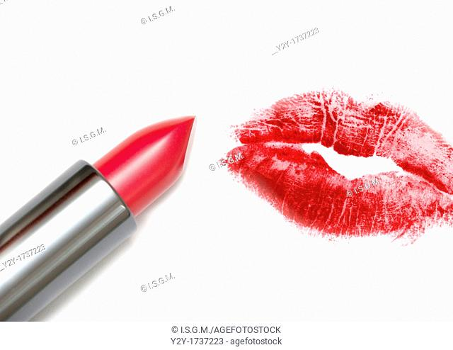 Lipstick and kiss
