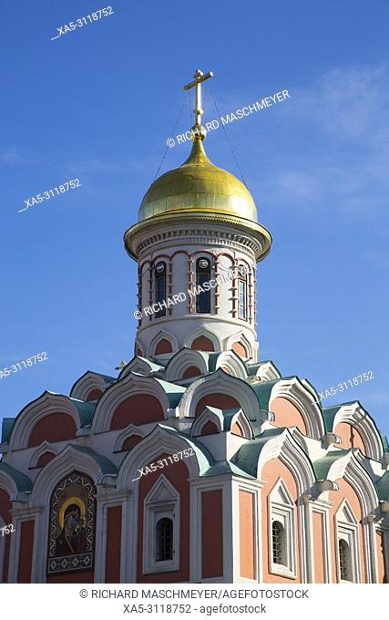 Kazan Cathedral, Red Square, UNESCO World Heritage Site, Moscow, Russia