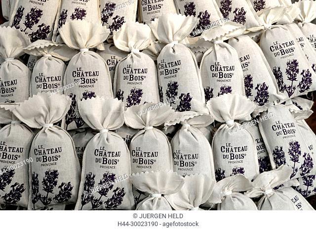 France, Provence, Avignon, Coustellet, Musee de la Lavande, Lavender Museum, Lavender bags, Bouche du Rhone, Le Chateau du Bois