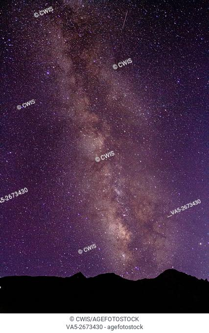 Rawu, Tibet, China - The view of amazing galaxy at night