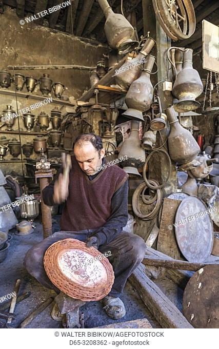 Azerbaijan, Lahic, metalworker, MR