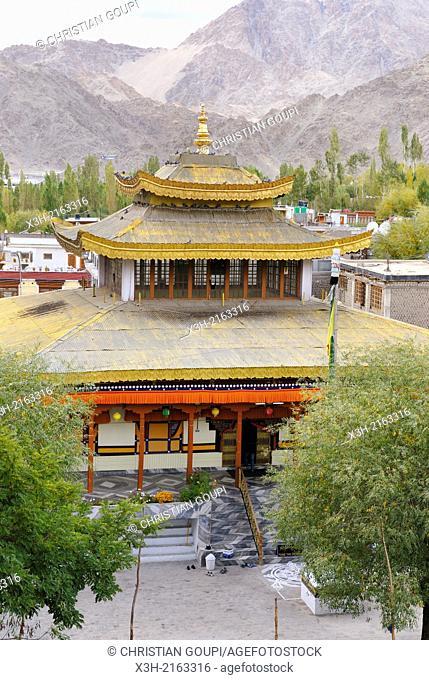 Buddhist Temple at Leh, Ladakh region, state of Jammu and Kashmir, India, Asia