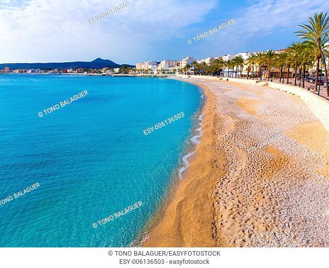 Javea Xabia Playa La Grava beach in Alicante mediterranean Spain