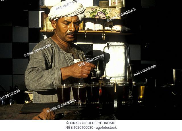 Man making Tea, Egypt