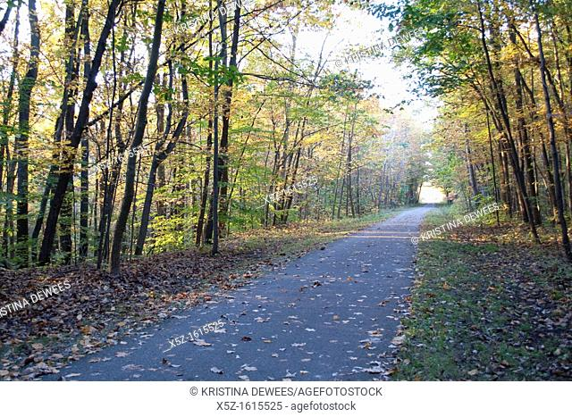 One of Ohio's many Bike and Hike trails in the Fall