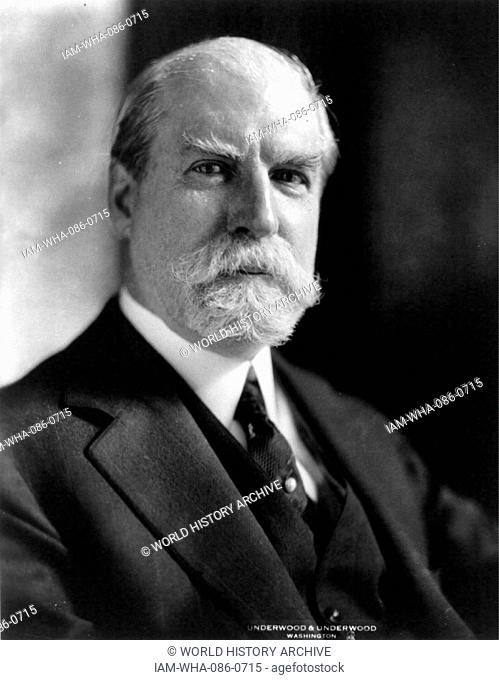 Photograph of Charles Evans Hughes (1862-1948) an American statesman, lawyer, and Republican politician. Dated 20th Century