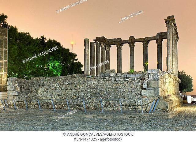Roman Temple, Evora, Portugal, Europe