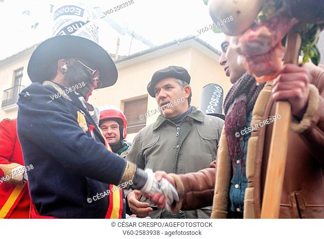 The new Major of Ibi's Village recive his Stick of Rule