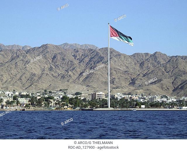 Aqaba view from Red Sea Jordan