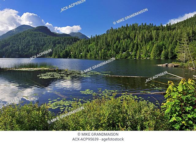 Coast Mountains and a northern lake on The Sunshine Coast Skookumchuck British Columbia Canada