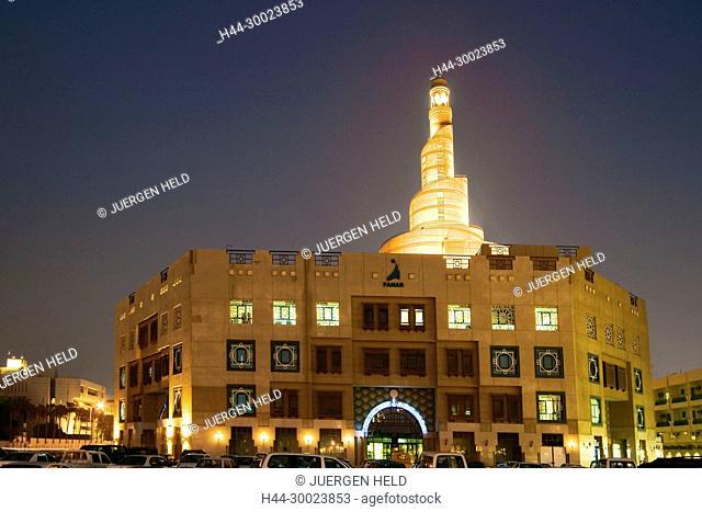 Qatar Doha Main Mosque at night