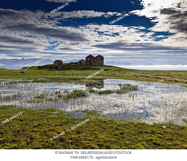 Vidbordssel abandoned farmhouse, Hornarfjordur, Iceland
