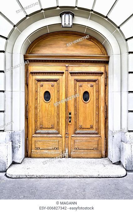 An image of an old door in Bern Swiss