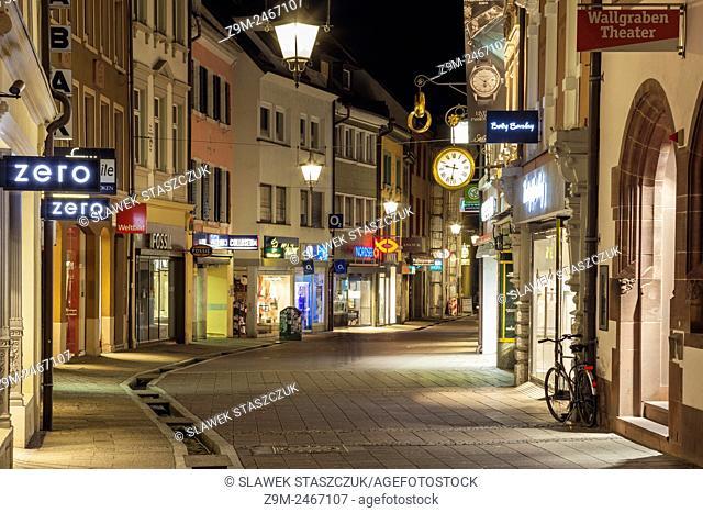 Evening in Freiburg, Baden-Württemberg, Germany