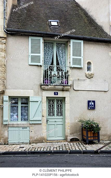 The house Maison de Maitre Adam Billaut, French carpenter, poet and singer in the city Nevers, Burgundy, France