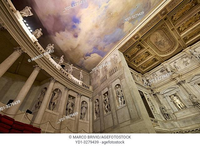 """Vicenza, Veneto, Italy. TheTeatro Olimpico(""""""""Olympic Theatre"""""""") is a theatre inVicenza, northernItaly, constructed in 1580-1585"""