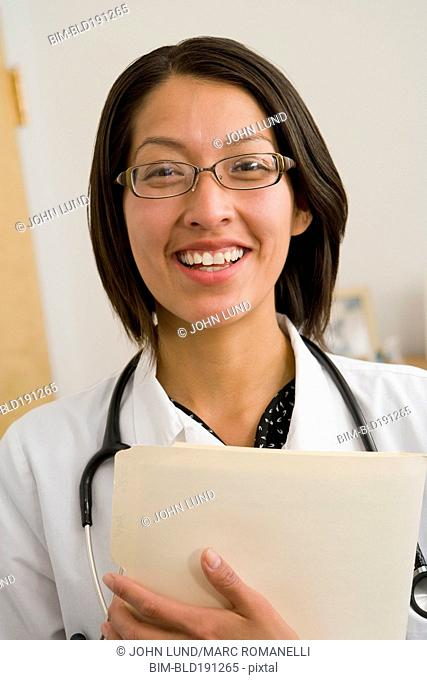 Native American doctor smiling