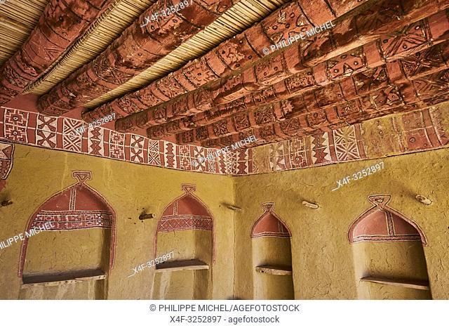 Sultanat d'Oman, gouvernorat de Ad-Dakhiliyah, les monts Hajar, le vieux village en pisé de Al Hamra au pied du Djebel Shams