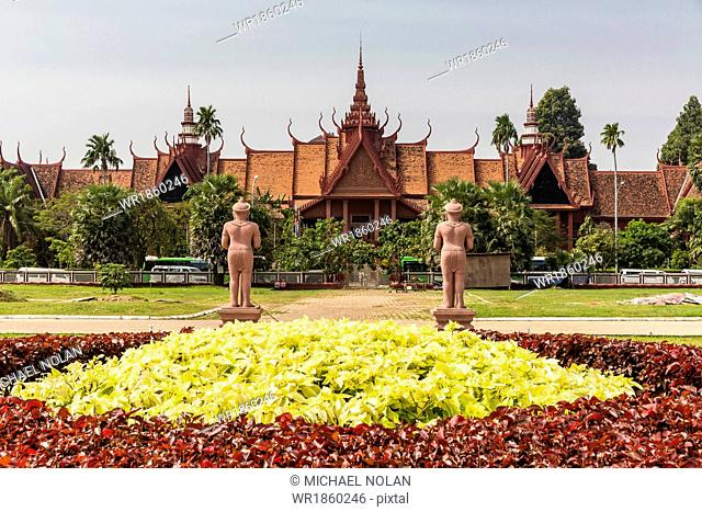 The National Museum of Cambodia in the capital city of Phnom Penh, Cambodia, Indochina, Southeast Asia, Asia