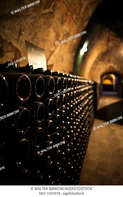 France, Marne, Champagne Ardenne, Reims, Pommery champagne winery, champagne cellars