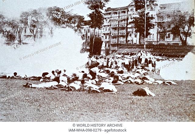 Mohandas Gandhi (1869 – 1948) was driven to Gowalia Tank Maidan, Mumbai where he called upon his countrymen to launch the Quit India Movement