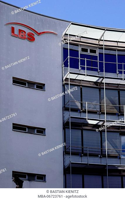 Mainz, Germany - June, 26, 2017: The office building of the building society LBS with logo on the modern facade on the 26th of June 2017 in Mainz