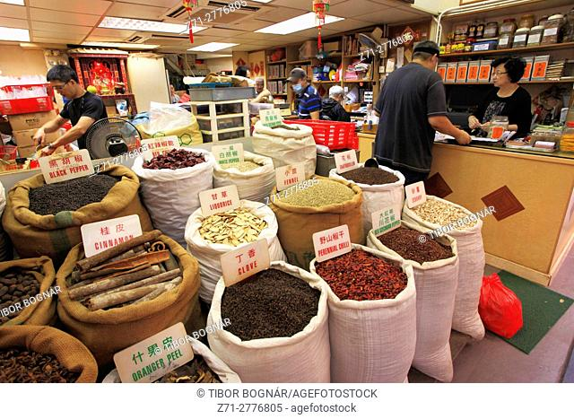 China, Hong Kong, Sheung Wan, spices shop,