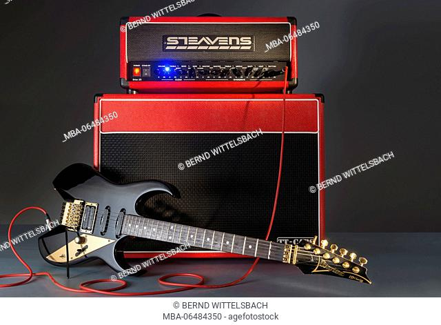 Ibanez guitar with Steavens amplifier