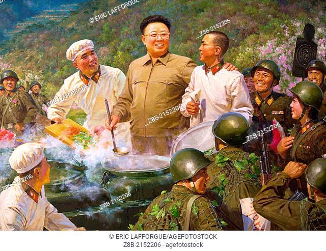 Kim Jong Il Painting, Pyongyang, North Korea