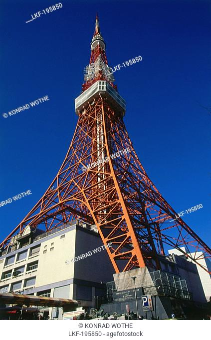 The self supporting steel strukture of Tokyo Tower, Tokyo, Japan, Asia