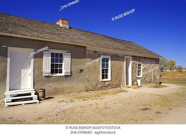 The post trader's store at Fort Laramie, Fort Laramie National Historic Site, Wyoming USA