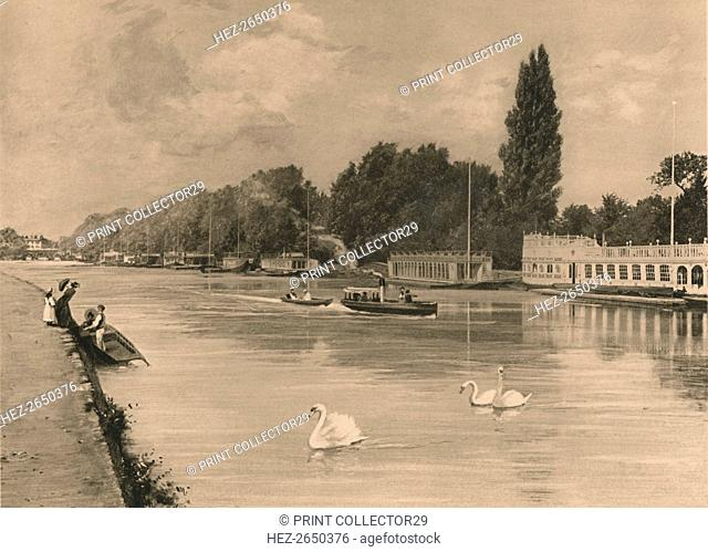 'The College Barges at Oxford', 1902. Artist: Unknown