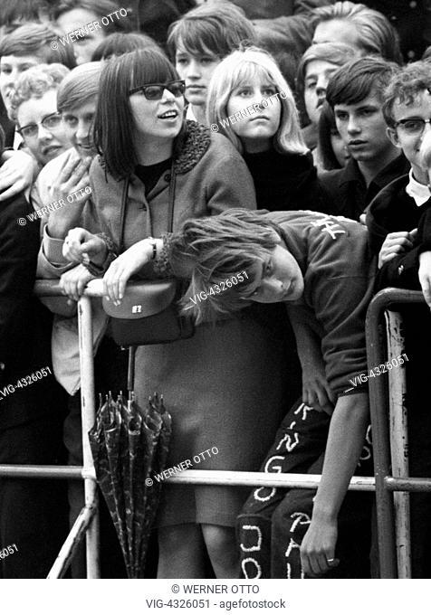 Die Beatles, Konzert in Essen, Ruhrgebiet, Grugahalle, 1966, 1960er, Sechziger Jahre, Gastspiel, England, London, Grossbritannien, britische Band, Musik