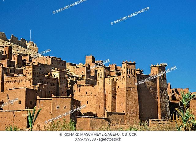 Morocco. near Quarzazate, Ait Benhaddou, exotic kasbah