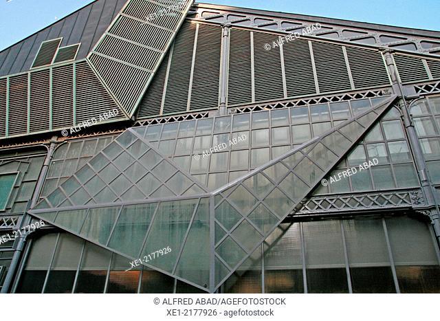 Market building, district of La Barceloneta, Barcelona, Catalonia, Spain