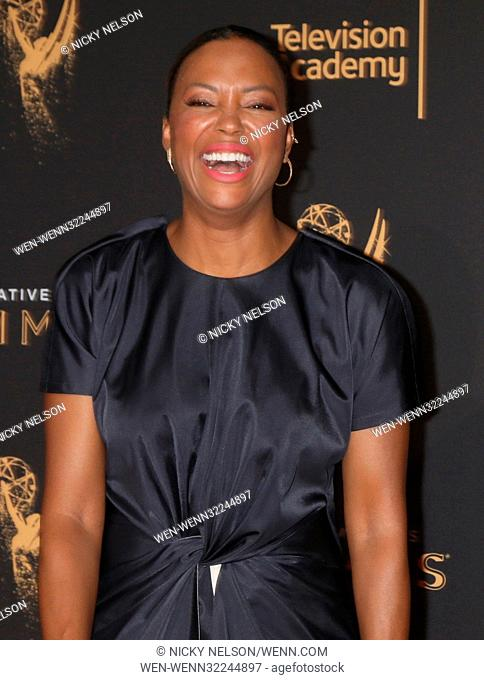 69th Primetime Creative Arts Emmy Awards held at the Microsoft Theatre - Day 1 - Arrivals Featuring: Aisha Tyler, Kenan Thompson Where: Los Angeles, California
