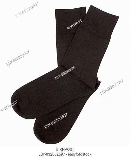 Pair of socks. Isolated on a white background. Clipping paths included
