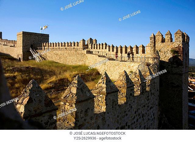 Sancho IV castle-fortress (13th century), Santa Olalla del Cala, Huelva province, Region of Andalusia, Spain, Europe