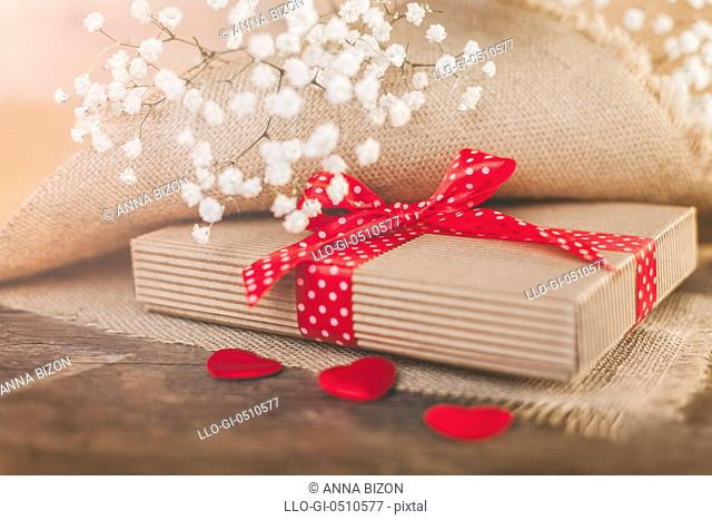 Valentine's gift covering by rustical textile Debica, Poland