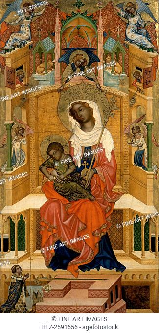 Mary Enthroned with the Child (Glatz Madonna), ca 1350. Found in the collection of the Staatliche Museen, Berlin